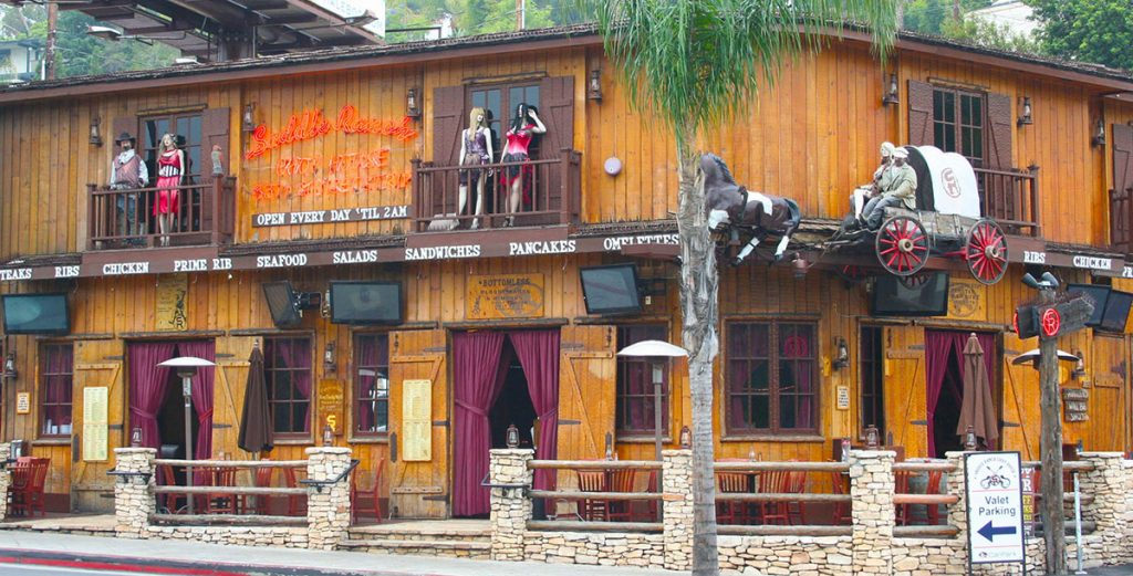 Saddle Ranch Sunset location view